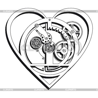 Mechanisches Herz | Stock Vektorgrafik |ID 3014850