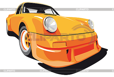Orange car | Stock Vector Graphics |ID 3014890