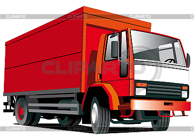 Red truck | Stock Vector Graphics |ID 3014894