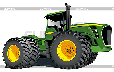 Green tractor | Stock Vector Graphics |ID 3014918