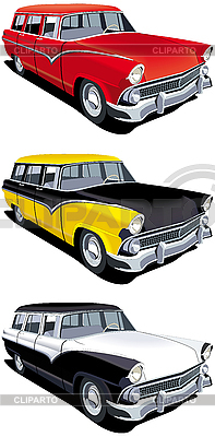 American retro station wagon | Stock Vector Graphics |ID 3014932