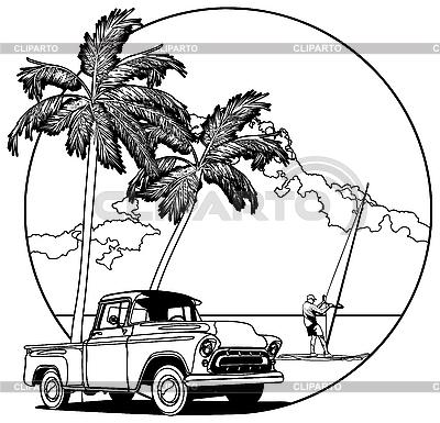 Hawaiian vignette | Stock Vector Graphics |ID 3014940