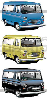 Old van set | Stock Vector Graphics |ID 3014956