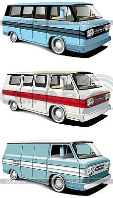 Retro van set | Stock Vector Graphics |ID 3014960