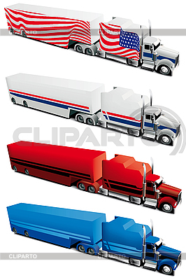 Truck set | Stock Vector Graphics |ID 3014964