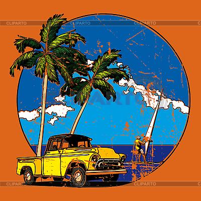 Hawaiian vignette grunge | Stock Vector Graphics |ID 3014996