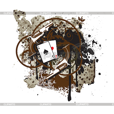 Vintage vignette with guns | Stock Vector Graphics |ID 3015000