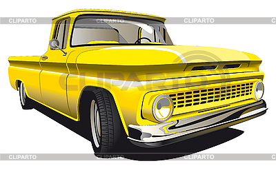 Yellow Pickup | Stock Vector Graphics |ID 3015024