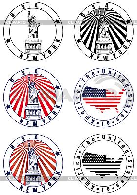 美国邮票 | 向量插图 |ID 3015030