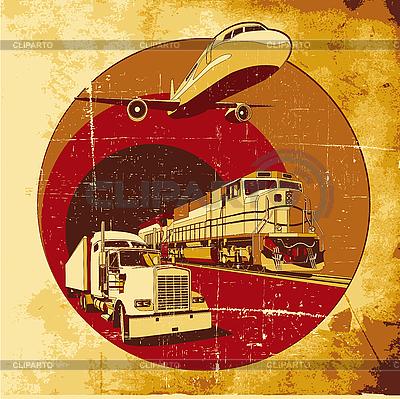 Cargo transportation grunge | Stock Vector Graphics |ID 3015038