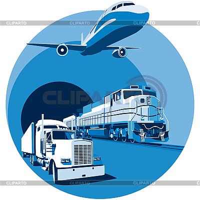 Cargo transportation blue | Stock Vector Graphics |ID 3015040
