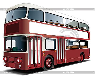 Двухэтажный автобус | Векторный клипарт |ID 3015046