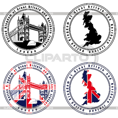 English Stamp | Stock Vector Graphics |ID 3015052