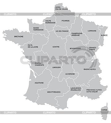 Frankreichs Landkarte | Stock Vektorgrafik |ID 3015055