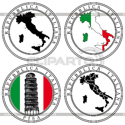 Italian Stamp | Stock Vector Graphics |ID 3015073