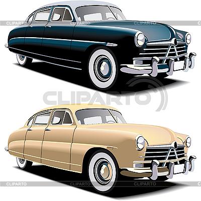 Altmodische große Autos | Stock Vektorgrafik |ID 3015083