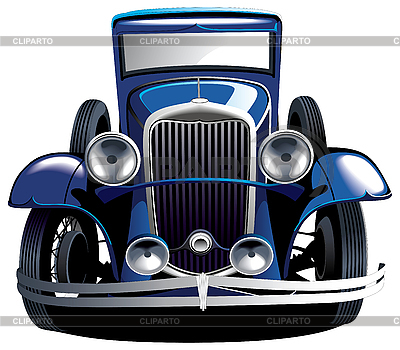 Blue vintage car | Stock Vector Graphics |ID 3015137
