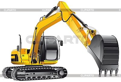 Crawler excavator | Stock Vector Graphics |ID 3015143
