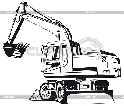 Excavator outline | Stock Vector Graphics |ID 3015151