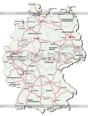 Germany Stock Photos And Vektor EPS Clipart CLIPARTO - Germany map autobahn