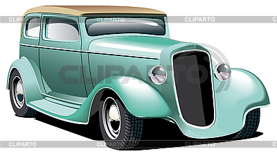 Green Hot Rod | Stock Vector Graphics |ID 3015159