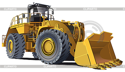 Large wheel loader | Stock Vector Graphics |ID 3015163