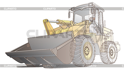 Loader wireframe | Stock Vector Graphics |ID 3015165