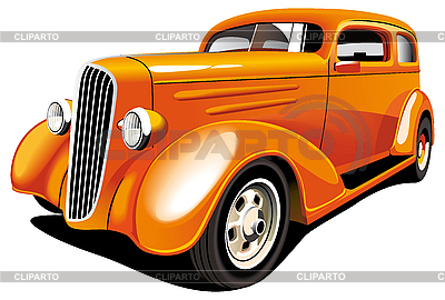 Orange Hot Rod | Stock Vector Graphics |ID 3015201