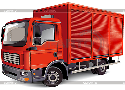 Red Van | Stock Vector Graphics |ID 3015209