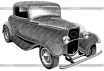 Rocznik wina samochód | Klipart wektorowy |ID 3015215