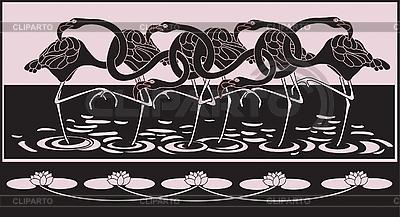 Flamingi | Klipart wektorowy |ID 3018159