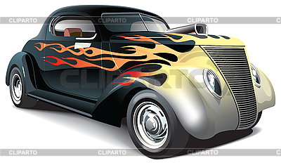 Hot rod with flame | Stock Vector Graphics |ID 3026742