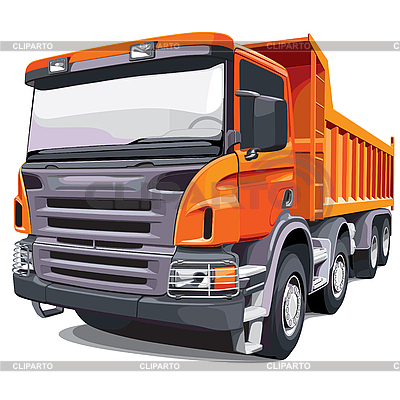 Large orange truck | Stock Vector Graphics |ID 3026746