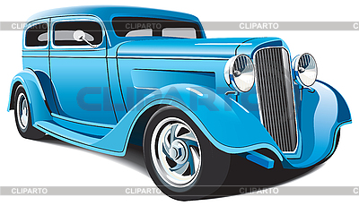 Light blue hot rod | Stock Vector Graphics |ID 3026748