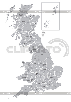 Map of counties of Great Britain | Stock Vector Graphics |ID 3026750