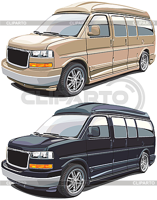 Modern american van | Stock Vector Graphics |ID 3026752