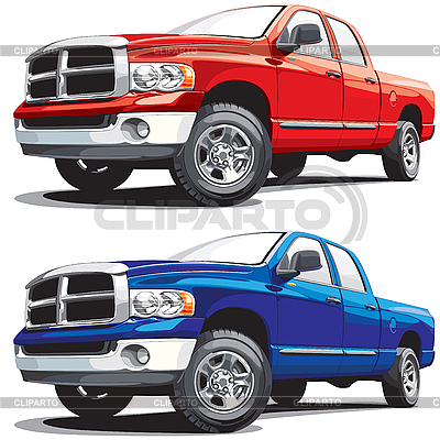Modern pickup | Stock Vector Graphics |ID 3026758