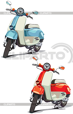Old scooter | Stock Vector Graphics |ID 3026762