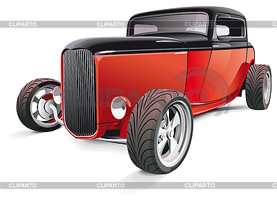 Red hot rod | Stock Vector Graphics |ID 3026768