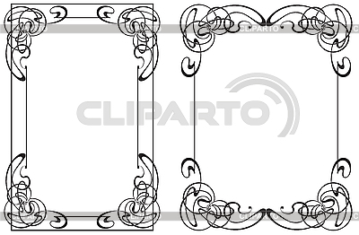 Two frames in Art Nouveau style   Stock Vector Graphics  ID 3026776