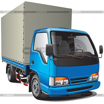 Small blue truck | Stock Vector Graphics |ID 3325740