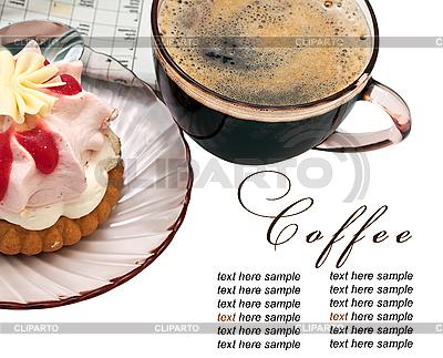 Filiżankę kawy i kawałek ciasta | Foto stockowe wysokiej rozdzielczości |ID 3013196