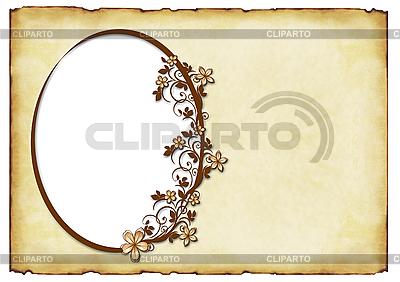 Stare tło z owalnej ramce | Stockowa ilustracja wysokiej rozdzielczości |ID 3013307
