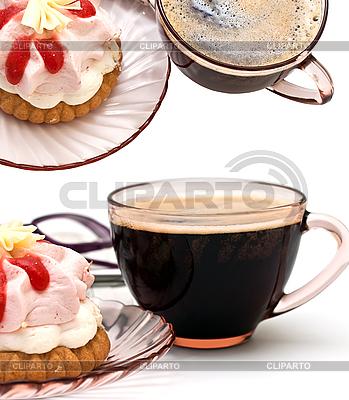 Filiżankę kawy i kawałek ciasta | Foto stockowe wysokiej rozdzielczości |ID 3013750