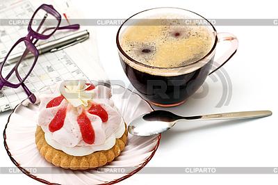 Tasse mit Tee und Kuchen | Foto mit hoher Auflösung |ID 3013807