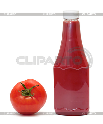 Bottle of ketchup and tomato | High resolution stock photo |ID 3013809