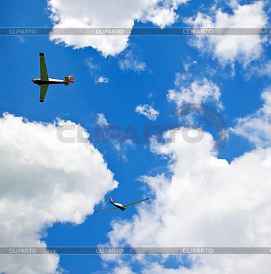 Zwei Segelflugzeuge  | Foto mit hoher Auflösung |ID 3013829