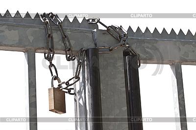 Kette und Schloß | Foto mit hoher Auflösung |ID 3013833