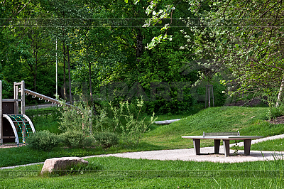Ping pong table in public park | High resolution stock photo |ID 3013983
