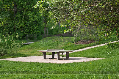 Ping pong table in public park | High resolution stock photo |ID 3013985